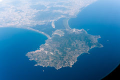 Aerial view of Monte Argentario, Italy Royalty Free Stock Photos
