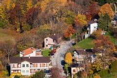 Aerial view on Monte Bre Village, Lugano, Switzerland Stock Photo