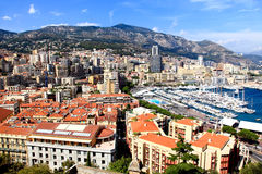 Aerial view of Monte-Carlo Monaco Royalty Free Stock Photography
