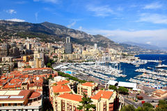 Aerial view of Monte-Carlo Monaco Stock Photo