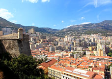 Aerial view of Monte-Carlo Monaco Stock Images