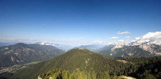 Aerial view from Monte Lussari - Italy Royalty Free Stock Photography