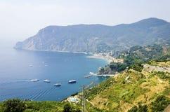 Aerial view of Monterosso Al Mare, Cinque Terre, Italy Royalty Free Stock Photos