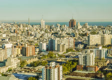 Aerial View of Montevideo Royalty Free Stock Images