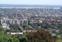 Aerial view of Montreal city in Quebec, Canada Stock Photo