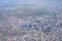 Aerial view of Montreal downtown Royalty Free Stock Images