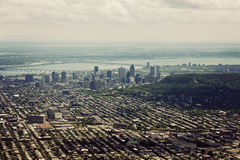 Aerial view of Montreal Royalty Free Stock Image