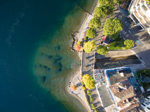 Aerial view of Montreux waterfront, Switzerland Royalty Free Stock Photo