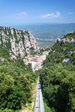 Aerial view of the Montserrat monastery. Stock Photo
