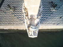 Aerial View of Monument to the Discoveries, Belem district, Lisbon, Portugal Royalty Free Stock Photography