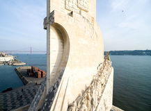 Aerial View of Monument to the Discoveries, Belem district, Lisbon, Portugal Royalty Free Stock Images