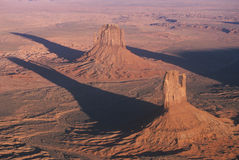 Aerial View of Monument Valley at Sunset, Royalty Free Stock Photography