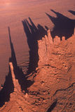 Aerial View of Monument Valley at Sunset, Arizona Royalty Free Stock Image