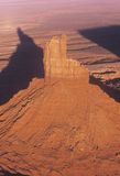 Aerial View of Monument Valley at Sunset, Arizona Royalty Free Stock Photo