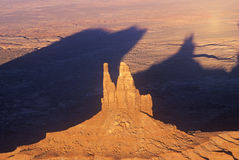 Aerial View of Monument Valley at Sunset, Arizona Stock Photo