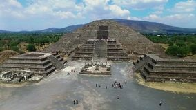 Aerial view of the Moon pyramid stock video footage