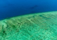 Aerial view of Moore Reef on the outer Great Barrier Reef Royalty Free Stock Photography