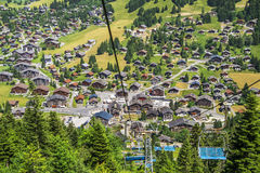 Aerial view of Morgins village Stock Photo