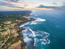 Aerial view of Mornington Peninsula in the morning near Blairgow Royalty Free Stock Image