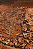 Aerial view of moroccan village Stock Image