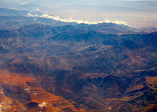 Aerial view of Morocco Atlas Africa Royalty Free Stock Photography