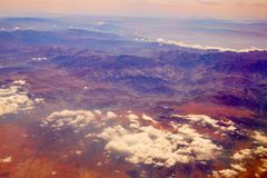 Aerial view of Morocco Atlas Africa Royalty Free Stock Photo