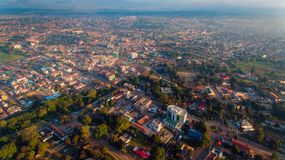 Aerial view of the Morogoro town. Tanzania royalty free stock images