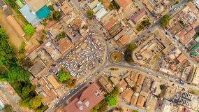 Aerial view of the Morogoro town. Tanzania royalty free stock photos