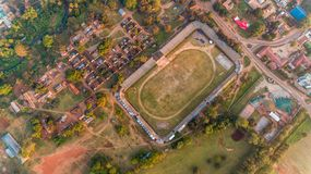 Aerial view of the Morogoro town. Tanzania stock images