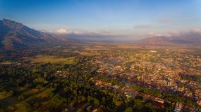 Aerial view of the Morogoro town. Tanzania stock image