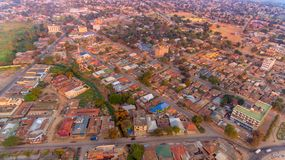 Aerial view of the Morogoro town. Tanzania stock photography