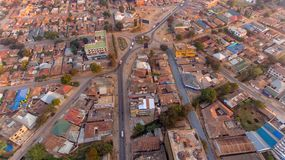 Aerial view of the Morogoro town. Tanzania royalty free stock photography