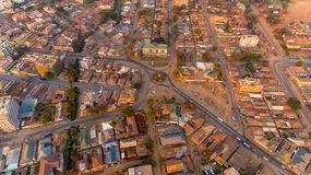Aerial view of the Morogoro town. Tanzania royalty free stock image