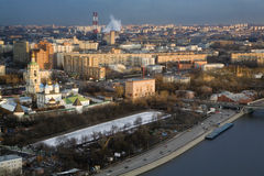 An aerial view of Moscow Stock Photo