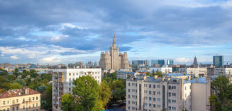 Aerial view of Moscow city Royalty Free Stock Images