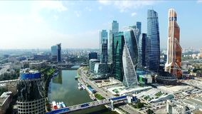 Aerial view of Moscow-City