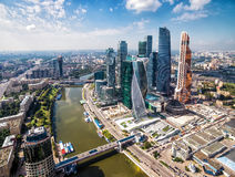 Aerial view of Moscow-city Royalty Free Stock Image
