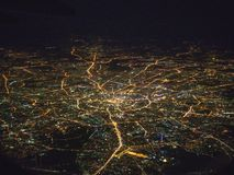 Aerial view of Moscow city stock photo