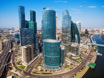 Aerial view of Moscow-City Royalty Free Stock Photography