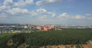 Aerial view of Moscow landscape at summer. stock video footage