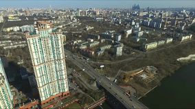 Aerial view of Moscow stock video footage