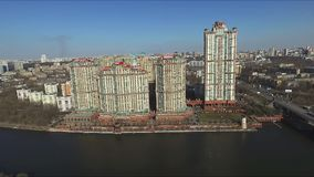 Aerial view of Moscow stock video