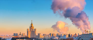 Aerial view of Moscow Royalty Free Stock Images