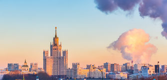 Aerial view of Moscow. At winter Stock Images