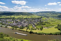 Aerial view of Moselle River in Germany Stock Photography