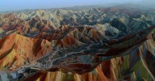 Rainbow mountains of Zhangye stock photos