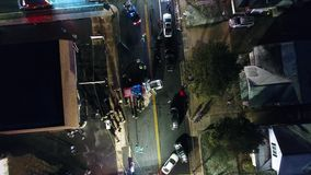 Aerial View of a Motor Vehicle Car Accident
