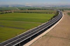 Aerial view of motorway Stock Images