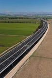 Aerial view of motorway Stock Photo
