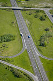 Aerial view of a motorway / Highway in France stock image